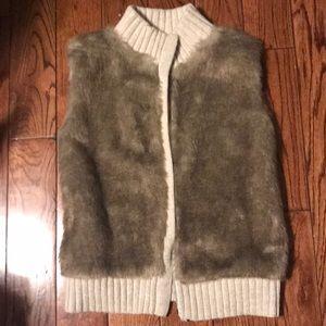 Gap kids Faux Fur Sweater Vest